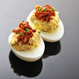 Deviled Eggs With Crispy Shallots and Chilies