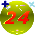Riddle of 24(Free Math Game) icon