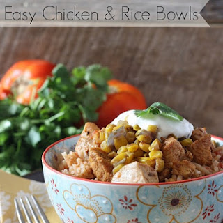 Easy Mexican Chicken And Rice Bowls