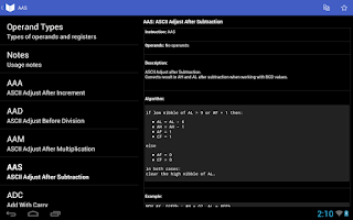 Screenshot of Assembly Reference & Programs