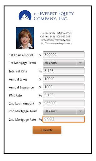 Brooke Jacob's Mortgage Calc.