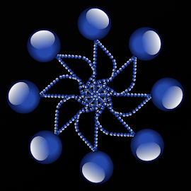 by Dipali S - Web & Apps Icons ( abstract, logo, icon, balls, pattern, blue, illustration, glass, artistic, spheres, design )