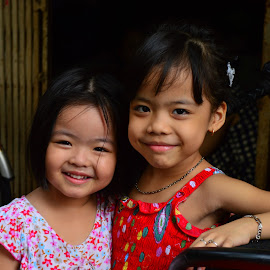 Vietnamese girls in Hanoi Vietnam  by Andrew Piekut - Babies & Children Child Portraits