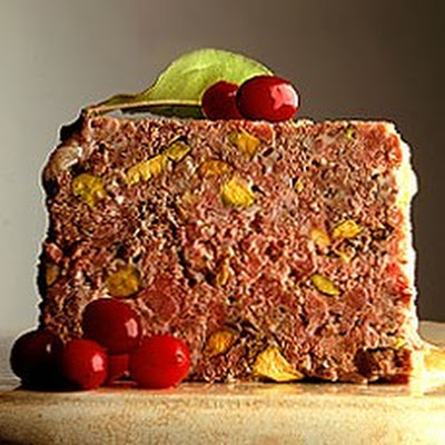 Terrine of Venison with Juniper and Pistachio Nuts and Cranberry and Orange Compote