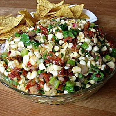 Fresh Corn & Sun-Dried Tomato Salsa