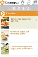 Screenshot of Recipe Estampas
