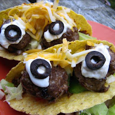 Spooky Eyeball Tacos (Johnny #5 Tacos)