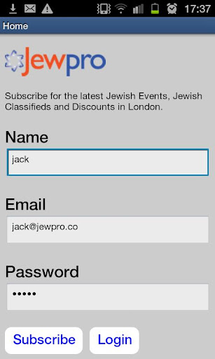 Jewish Events Discounts News