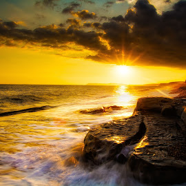 by Martin Tyson - Landscapes Beaches ( water, sunset, wave, sea, rock, beach )
