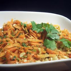 Gujarati Carrot and Peanut Salad