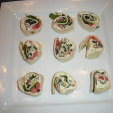 Greek Salad Pinwheel Party Appetizer
