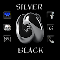 Silver Black Theme GO Launcher icon
