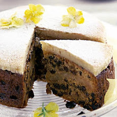 Ginger Simnel Cake With Spring Flowers