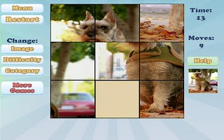 Screenshot of Sliding Puzzles