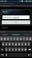 Screenshot of Italian for ICS Keyboard