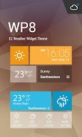 Screenshot of WP8 Metro Clock Weather Widget