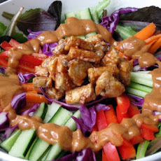 Warm Peanut Vegetable Salad