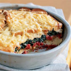 Spinach and Tomato Strata