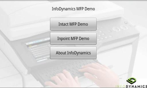 InfoDynamics MFP Demo