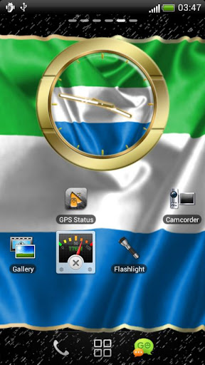 Sierra Leone flag clocks
