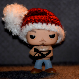Daryl In Santa Hat by Lin Fauke - Artistic Objects Toys ( santa, walking dead, daryl, walkers, zombies, hat )