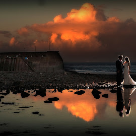 Sunset Bride by Martin Hill - Wedding Bride & Groom