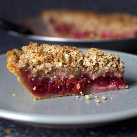 Sour Cherry Pie With Almond Crumble