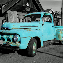 by Keith Sutherland - Transportation Other ( old, village, vintage, truck, green )