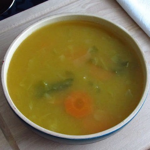 Vegetable Soup With Savoy Cabbage