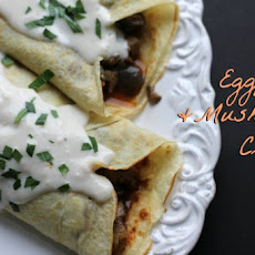 Eggplant and Mushroom Crepes