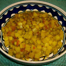 Aloo Matar Ki Sabzi  (Potato N Peas Curry)