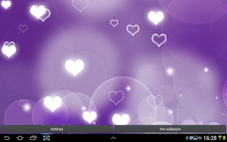Screenshot of Purple Hearts Live Wallpaper