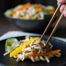 Cold Noodle Salad with Creamy Peanut Sauce