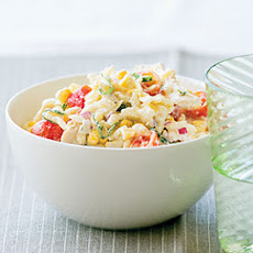 Chicken, Corn, and Tomato Pasta Salad