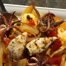 Grilled Calamari with Braised Fennel and Polenta  Recipe
