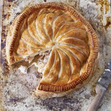 Cheesy Celeriac, Potato & Bacon Pie