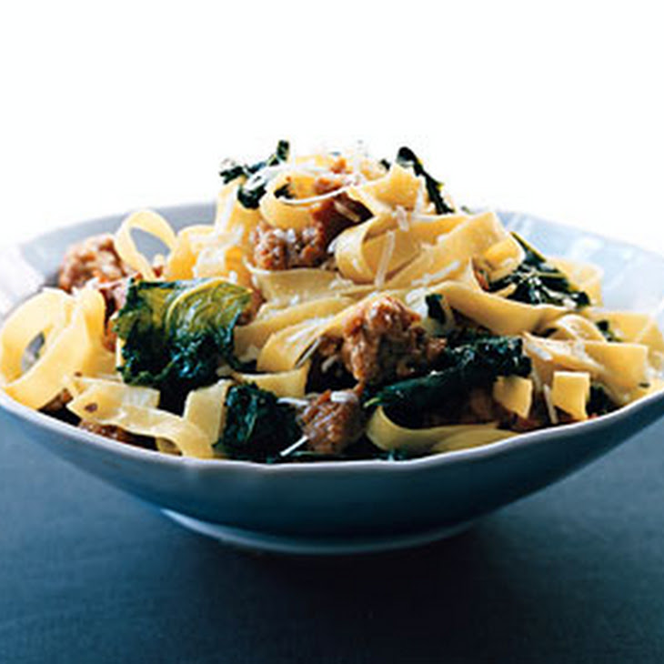 Fettuccine with Sausage and Kale Recipe | Yummly