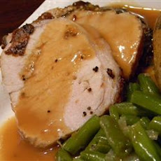 Roasted Loin of Pork with Pan Gravy