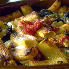 Baked Rigatoni with Roasted Eggplant and Tomato