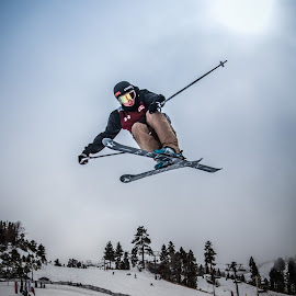 Big Air by Jay Woolwine - Sports & Fitness Snow Sports ( freestyle skiing, ski, skiing, skiier, snowski )