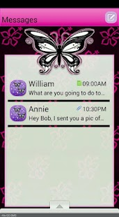 PinkFlower/GO SMS THEME - screenshot