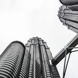 Bridging by Giorgio Ramella - City,  Street & Park  Vistas ( petronas twin towers, tower, skyscraper, 2014, malaysia,  )