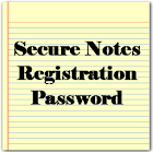 Reg. PW for Secure Notes icon