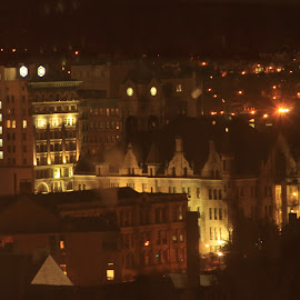 Lights of the City by Dan Herrick - Novices Only Street & Candid ( lights, street, scranton, night, city,  )