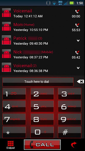 GO Contacts Clean Red Theme