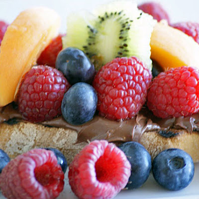 Nutella Bruschetta with Fresh Fruit
