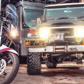 At Your Service, Folks by Fyant Layuk - Transportation Automobiles ( hdr, motorbike, cars, vehicles, policemen,  )