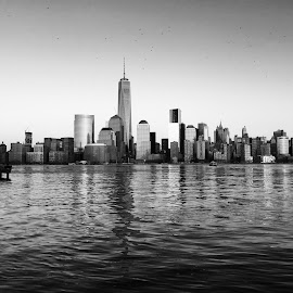 NYC by Bibhu Kalyan Das - City,  Street & Park  Skylines ( nyc skyline boardwalk hudson wtc )