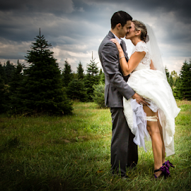 Stealing A Moment by Dave Dabour - Wedding Bride & Groom ( perfect christmas tree farm, 2014, wedding, october 4, mariana's )
