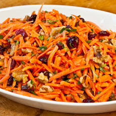 Serious Salads: Carrot Slaw with Cranberries and Toasted Walnuts